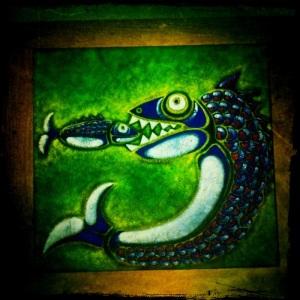 Pintura de Aurelio Díaz Trillo que tengo en el salón de casa