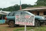 Uno de los controles en el camino hacia Ebongo